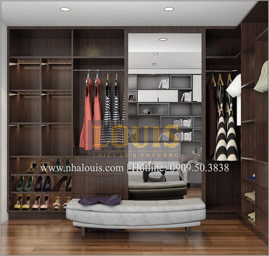 Phòng thay đồ Thiết kế biệt thự phong cách cổ điểnđẹp kết hợp kinh doanh tạiĐồng Nai