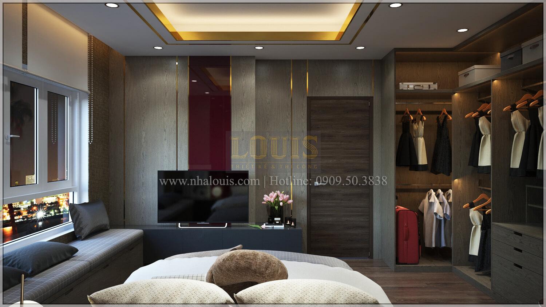 Phòng ngủ thiết kế căn hộ the park residence với nội thất sang trọng tại quận 7