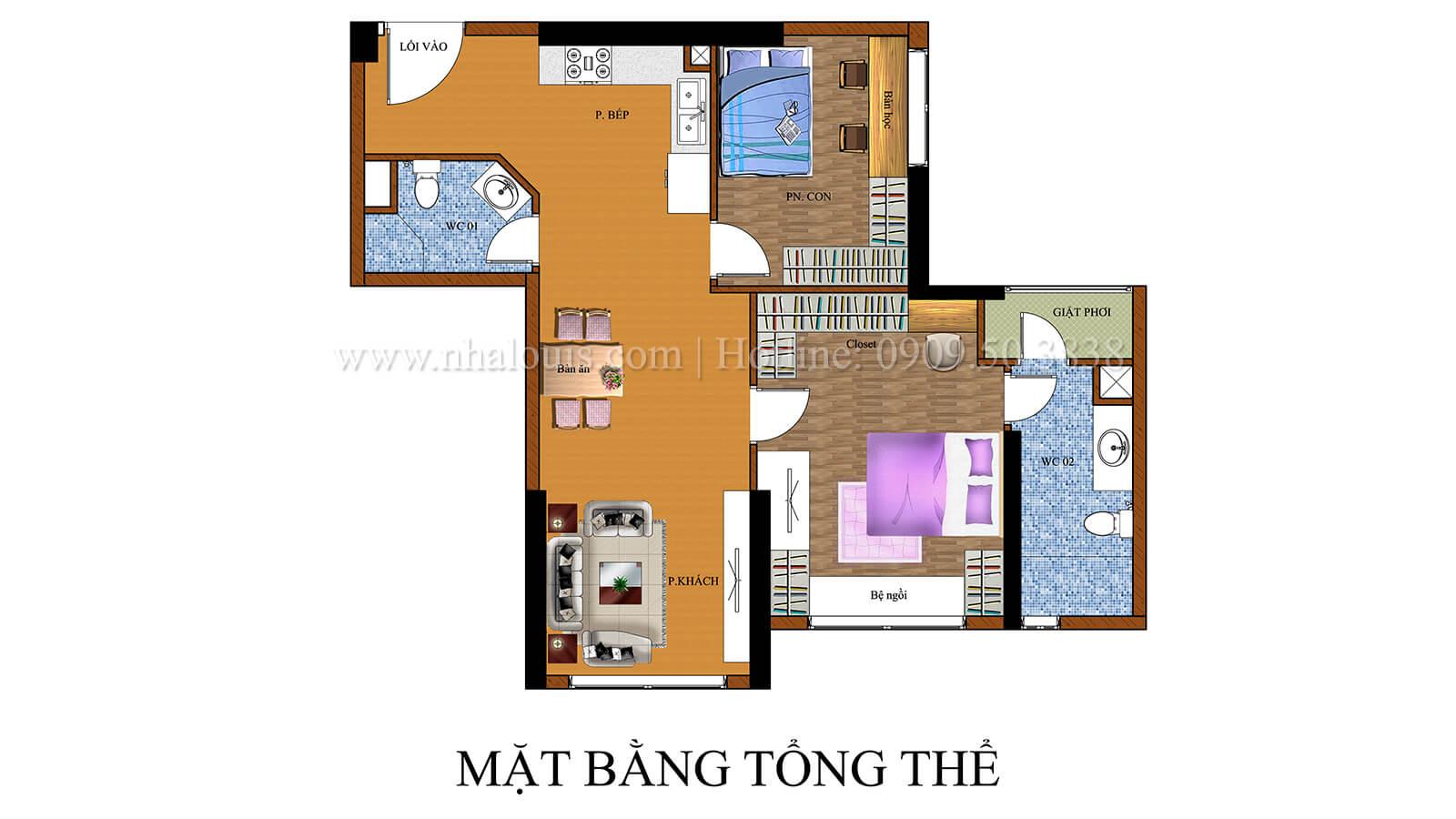 mặt bằng tổng thể thiết kế căn hộ the park residence với nội thất sang trọng tại quận 7