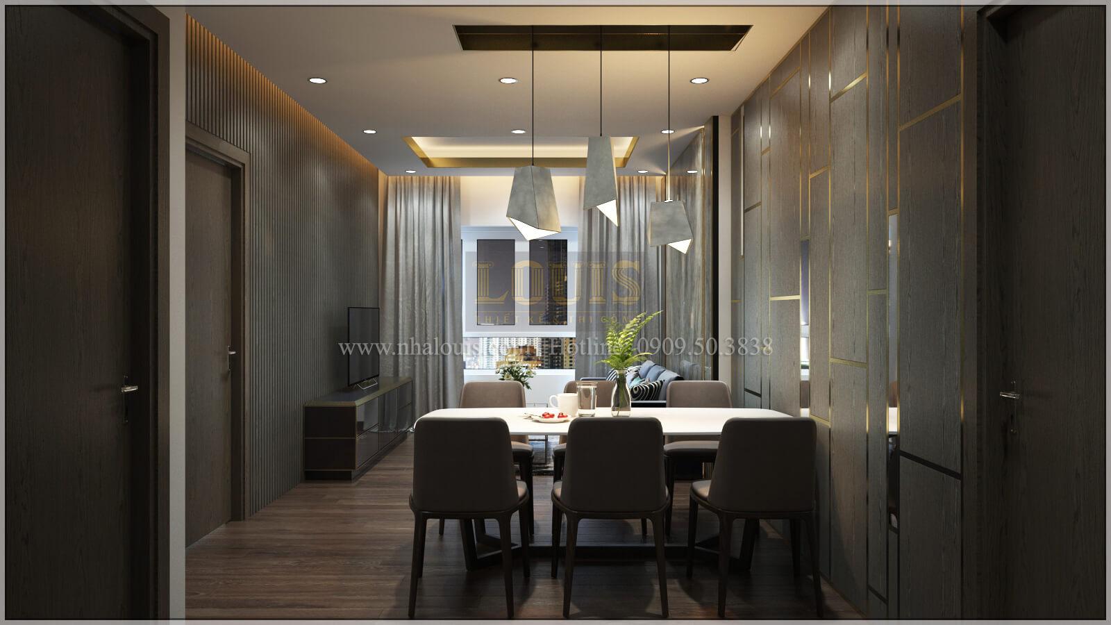 Phòng ăn thiết kế căn hộ the park residence với nội thất sang trọng tại quận 7
