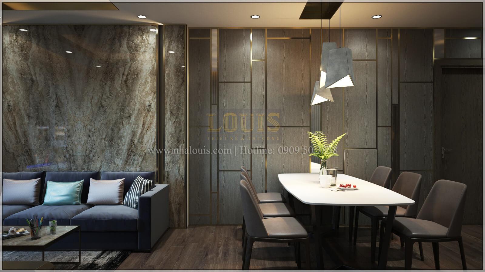 Phòng khách + phòng ăn thiết kế căn hộ the park residence với nội thất sang trọng tại quận 7