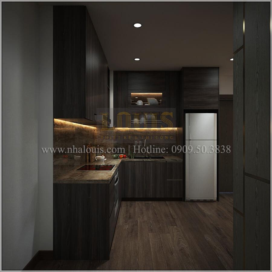 Phòng bếp thiết kế căn hộ the park residence với nội thất sang trọng tại quận 7