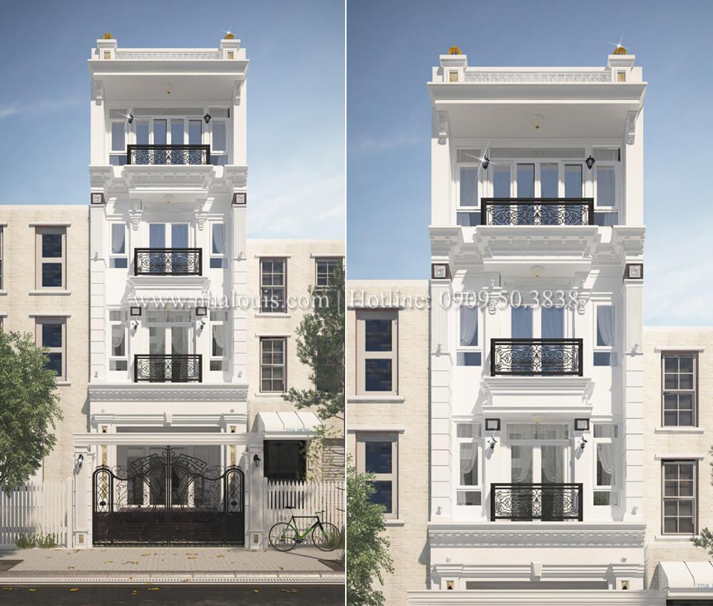Thiết kế kiến trúc nhà phố phong cách tân cổ điển 2018 tại Quận 7