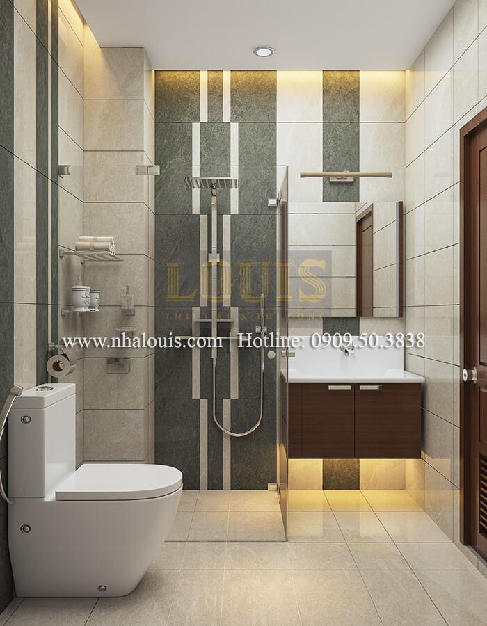 WC Thiết kế nhà ống 4 tầng đầy đủ công năng hiện đại tại quận 3