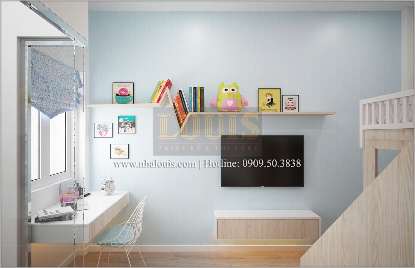 Phòng ngủ con gái nhỏ Thiết kế nhà ống 4 tầng đầy đủ công năng hiện đại tại quận 3
