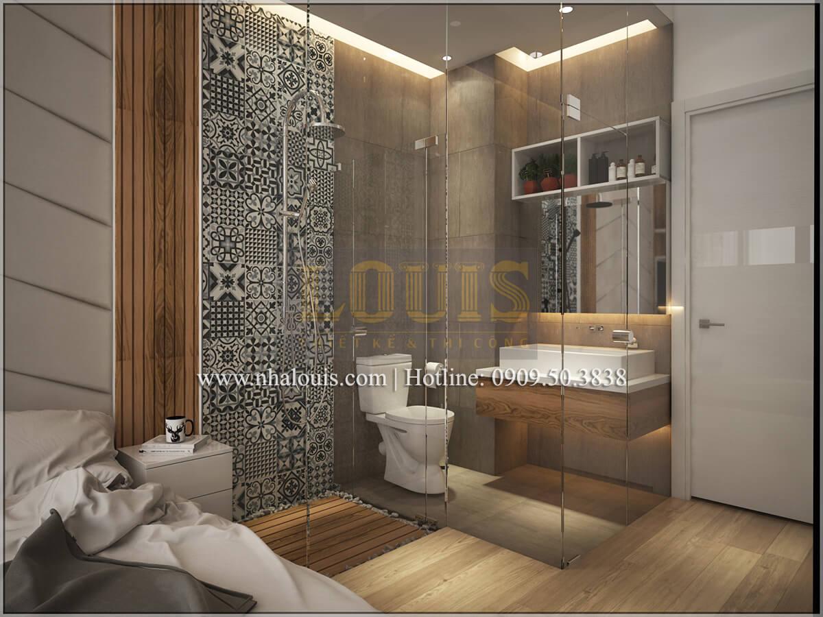 Phòng ngủ Thiết kế nhà ống 4 tầng đầy đủ công năng hiện đại tại quận 3