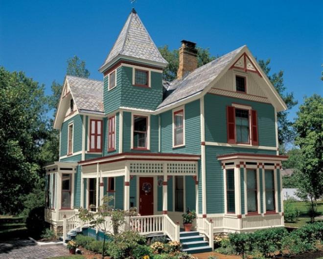 Bạn có dám sơn màu cho mặt tiền nhà đẹp không đụng hàng