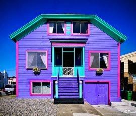 Bạn có dám sơn màu cho mặt tiền nhà đẹp không đụng hàng?