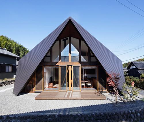Khám phá căn nhà mái rủ kỳ lạ gây xôn xao