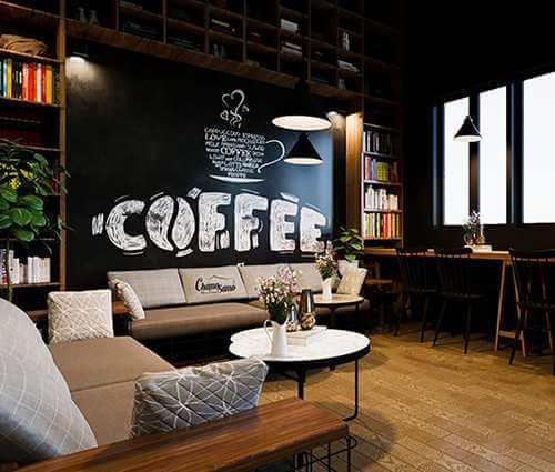 Mách bạn cách thiết kế quán cafe đẹp hút khách