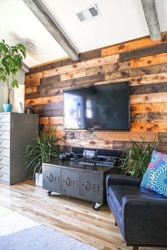 Nâng cấp không gian bằng cách làm tấm ốp tường từ gỗ bỏ đi