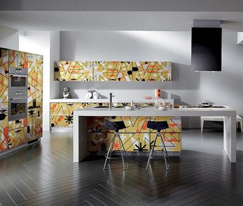 """Những phòng bếp cập nhật xu hướng """"2 màu"""" mới nhất 2017"""