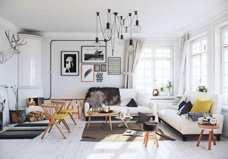 Chọn nội thất Scandinavia cho thiết kế biệt thự hiện đại