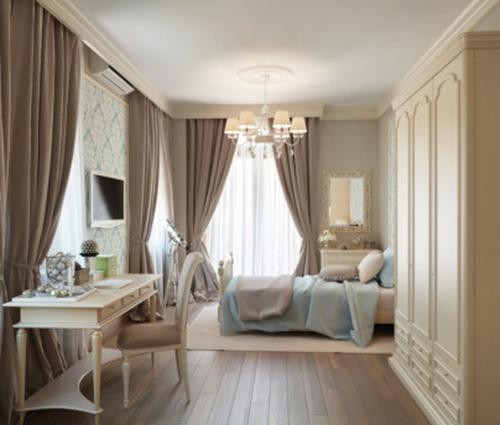 Chút nâu nhẹ nhàng cho phòng ngủ lãng mạn và phong cách