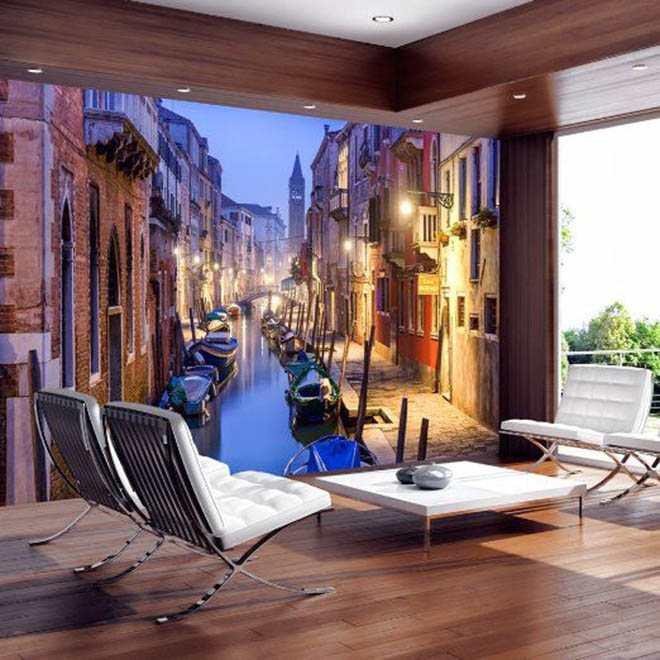 Mang cả thế giới vào nhà chỉ với giấy dán tường 3D