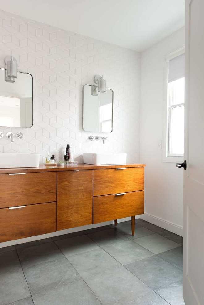 Ngắm những mẫu phòng tắm phong cách Midcentury thoải mái, dễ chịu