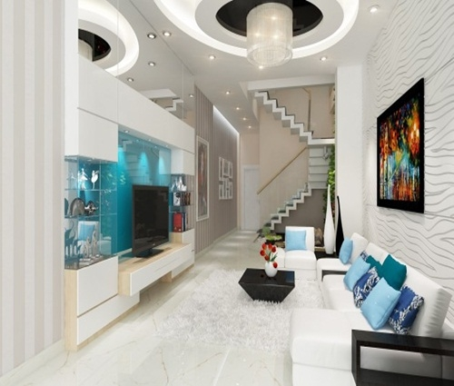 Thiết kế nhà ống hiện đại 4 tầng cho gia đình 3 thế hệ