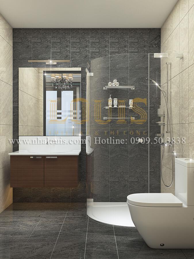 Phòng tắm và WC mẫu nhà ống tân cổ điển sang trọng tại Bình Dương