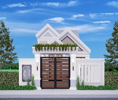 Thiết kế mẫu nhà trệt có sân vườn bao quanh tươi mát
