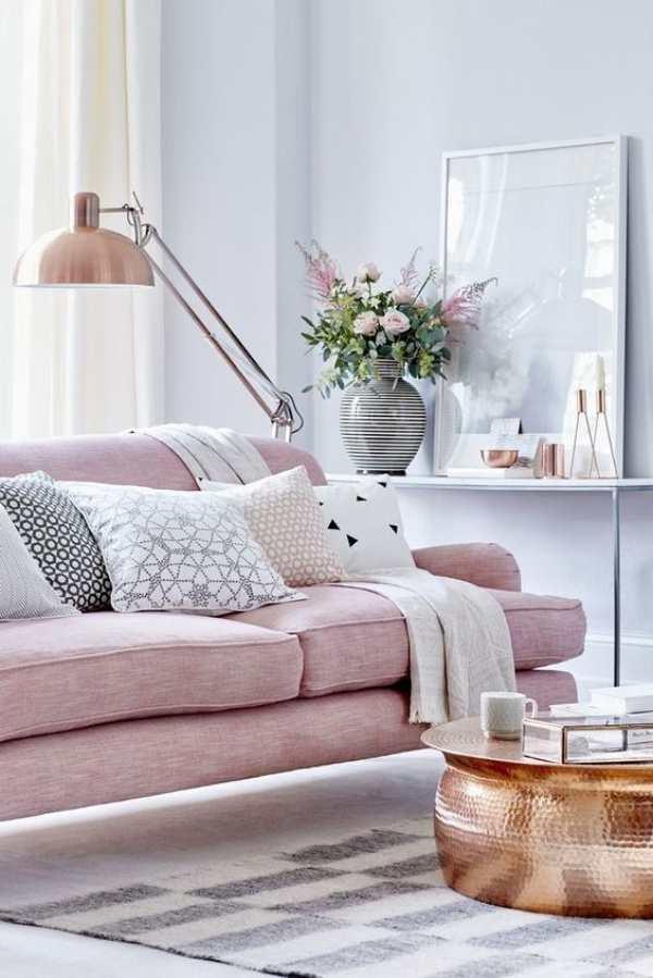 Thổi tươi tắn, dịu dàng cho không gian sống với gam màu hồng phấn