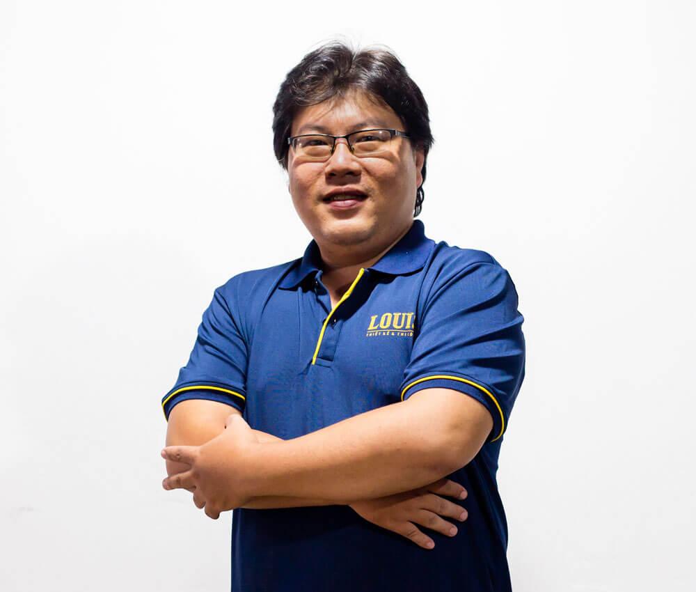 Phó tổng giám đốc, trưởng bộ phận thiết kế công ty LOUIS- Trần Tuấn Hùng