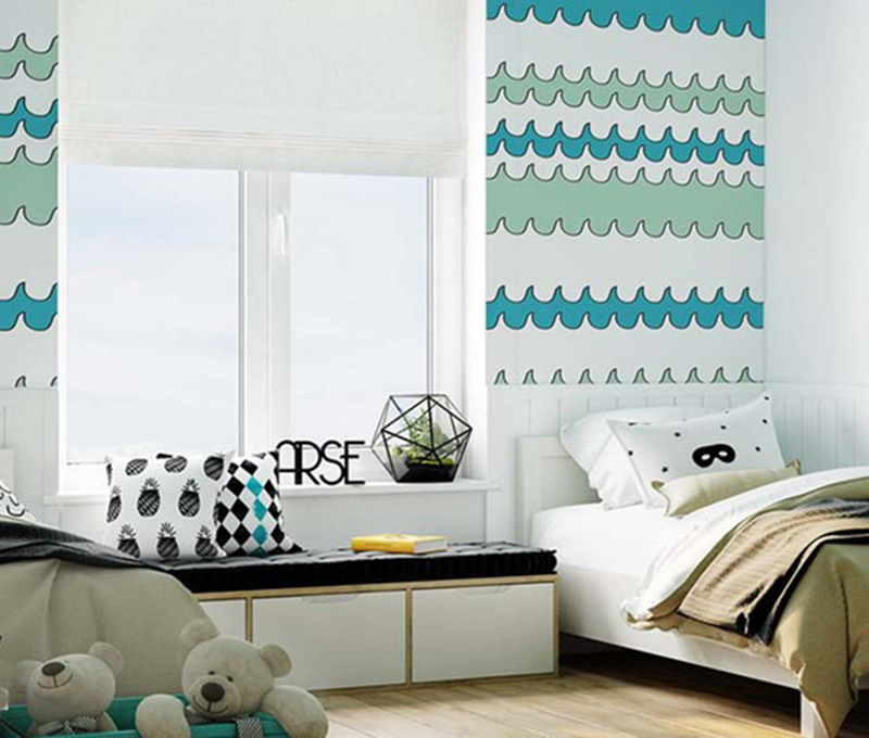 Chọn giấy dán tường cho phòng ngủ trẻ đáng yêu hơn