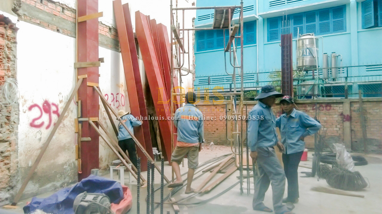 Thi công nhà phố bán cổ điển sang trọng tại Gò Vấp