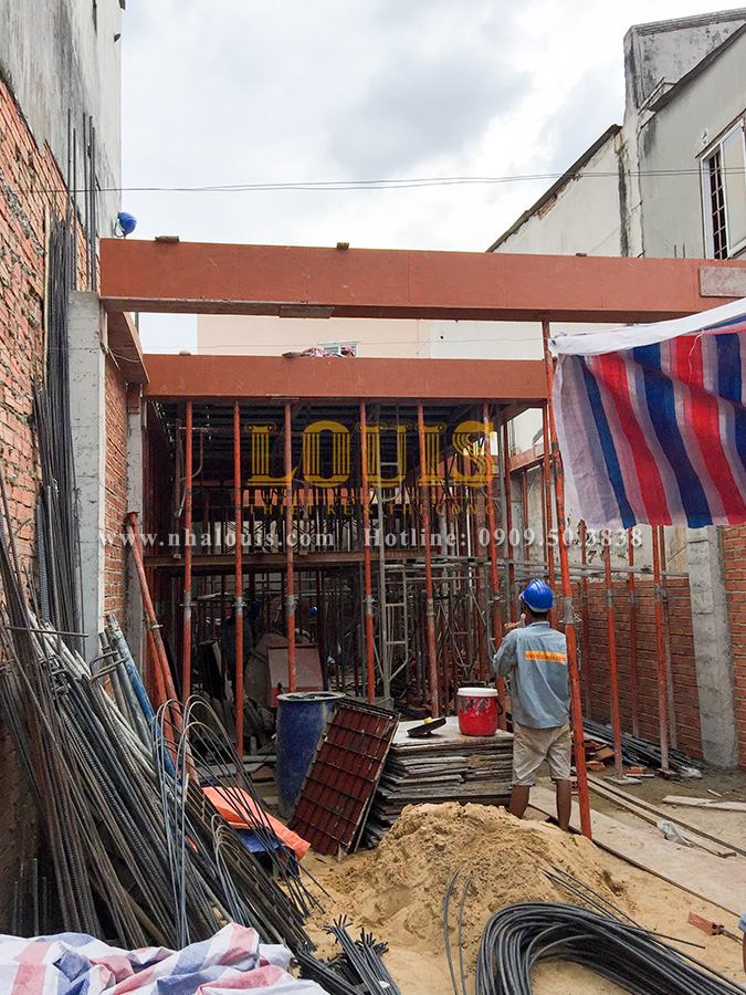 Thi công xây dựng công trình nhà ở kết hợp kinh doanh ở Thủ Đức