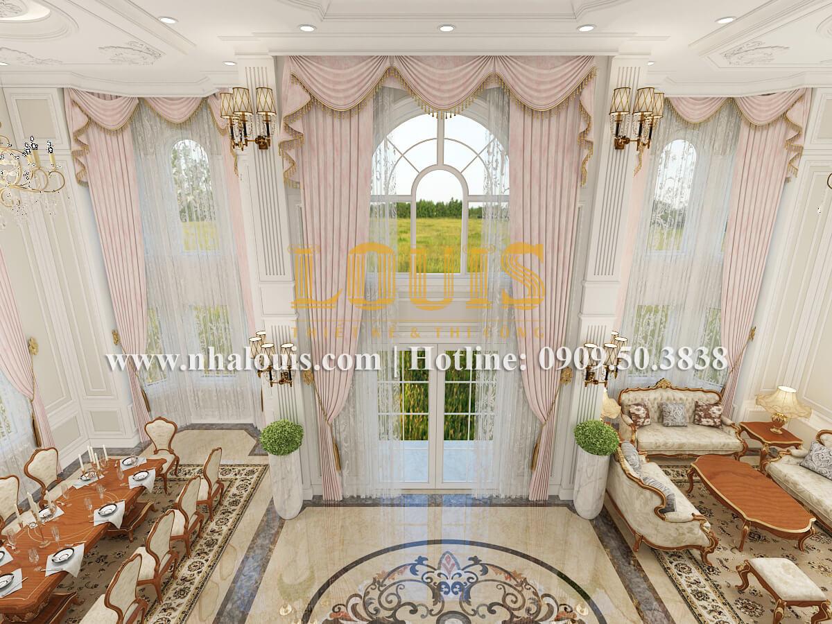 Phòng khách và phòng ăn biệt thự cổ điển kiểu Pháp đẳng cấp tại Đồng Nai