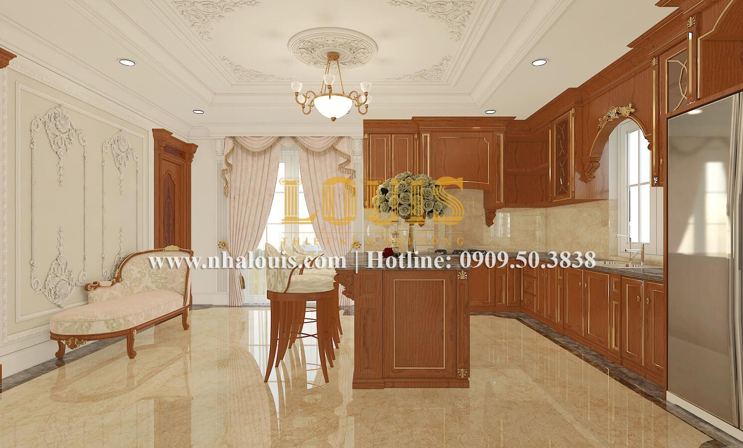 Phòng bếp biệt thự cổ điển kiểu Pháp đẳng cấp tại Đồng Nai