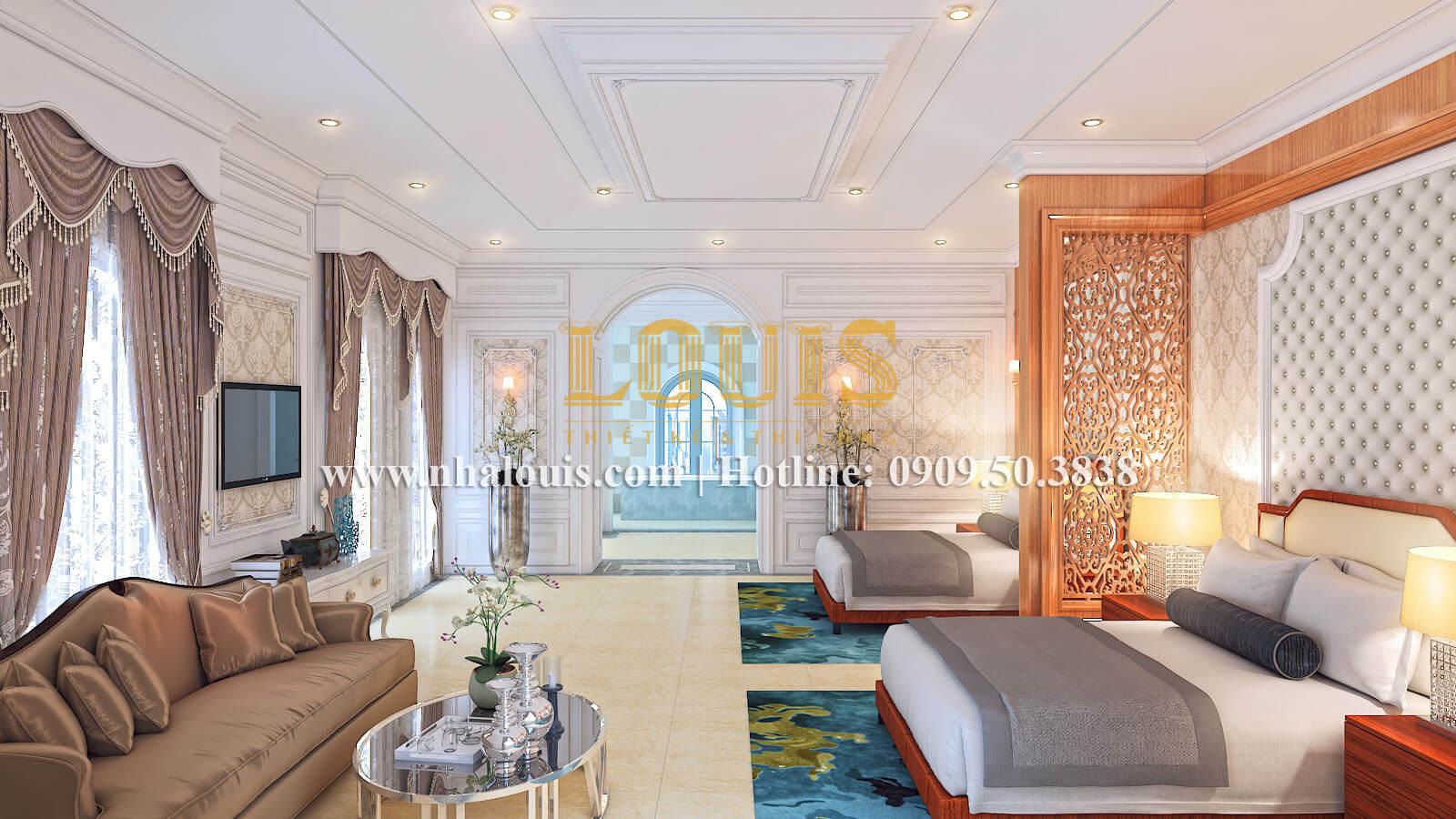 Phòng ngủ đôi biệt thự cổ điển kiểu Pháp đẳng cấp tại Đồng Nai