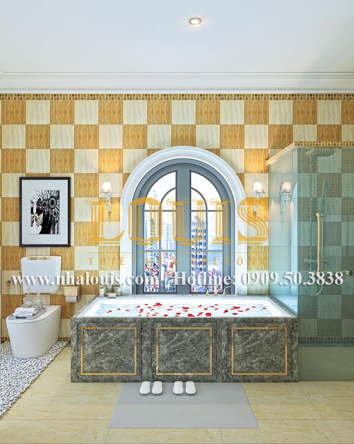 Phòng tắm và WC biệt thự cổ điển kiểu Pháp đẳng cấp tại Đồng Nai