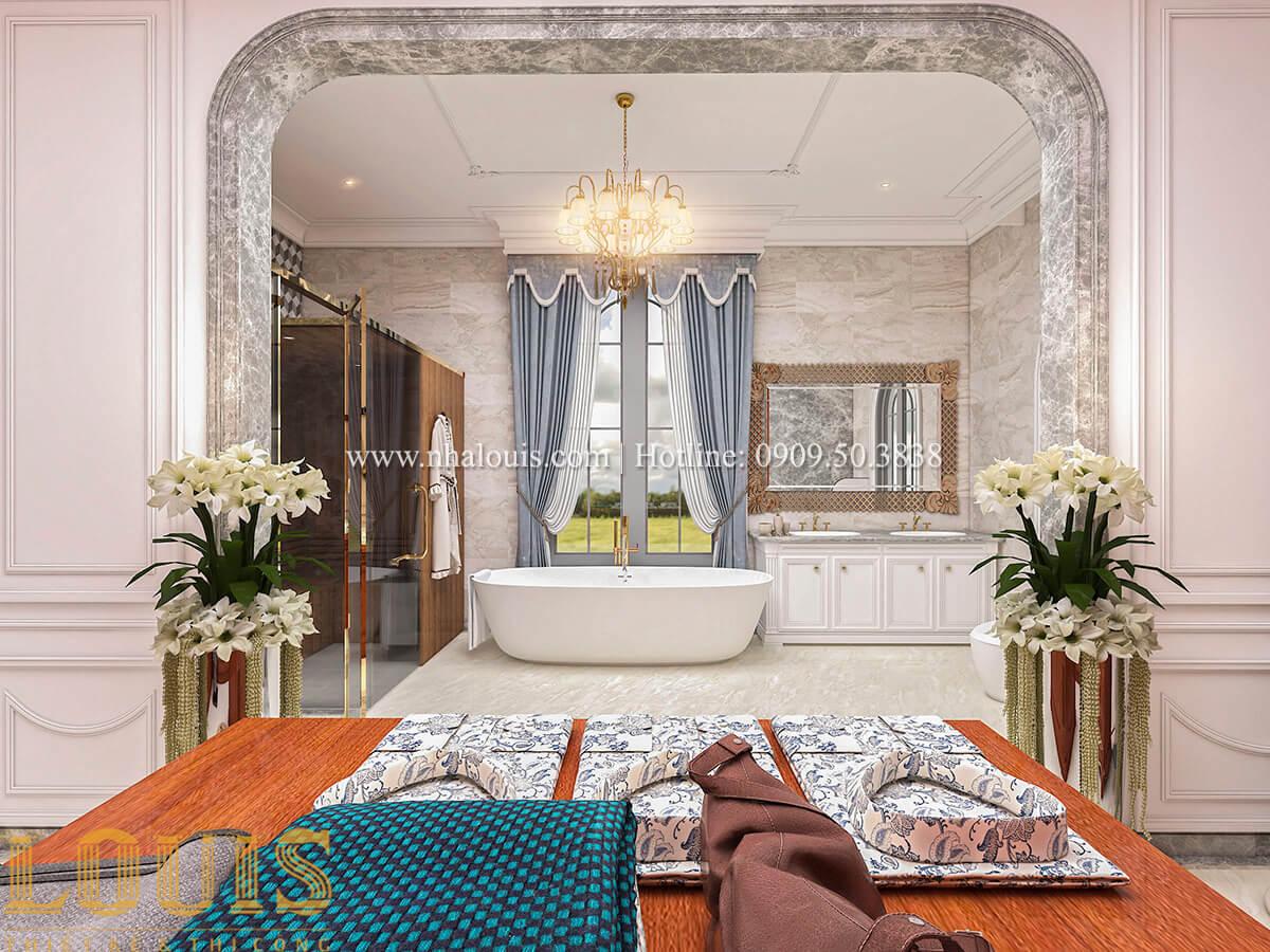 Phòng tắm và WC Thiết kế biệt thự kiến trúc Pháp phong cách 2018 đẳng cấp