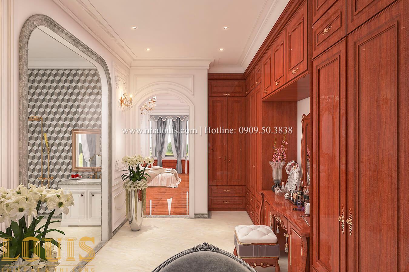 Phòng thay đồ và trang điểm Thiết kế biệt thự kiến trúc Pháp phong cách 2018 đẳng cấp