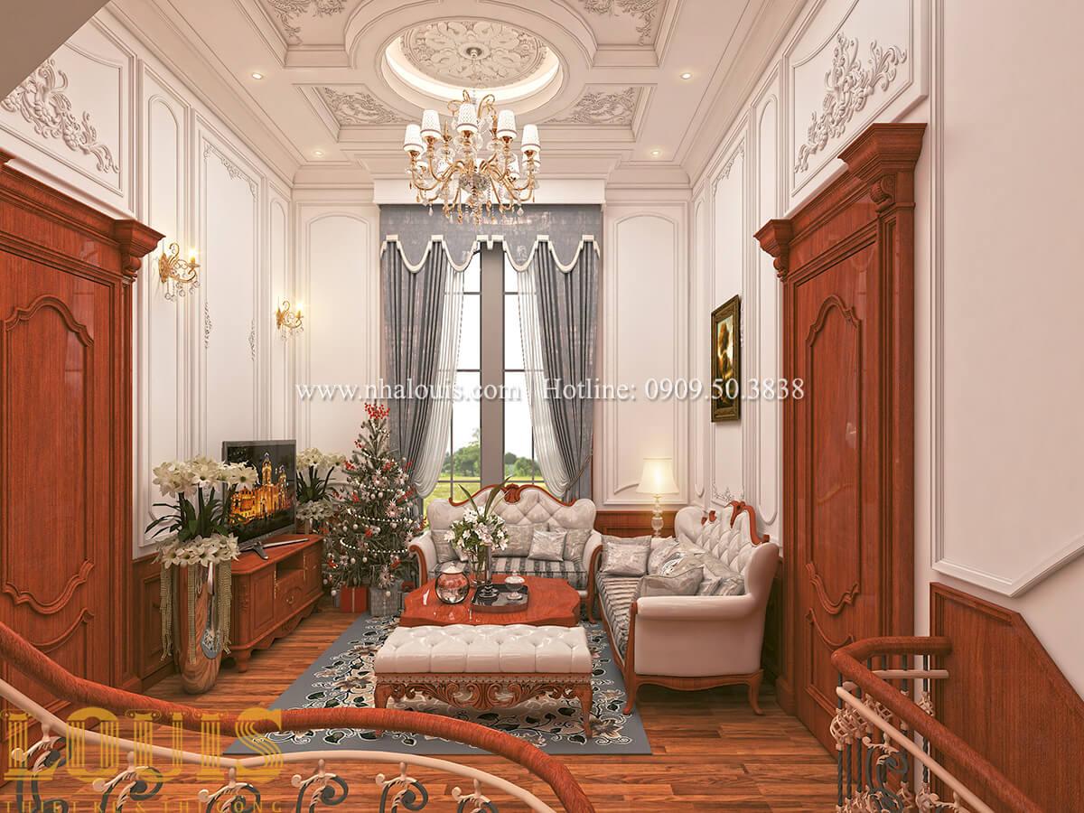 Phòng sinh hoạt chung Thiết kế biệt thự kiến trúc Pháp phong cách 2018 đẳng cấp