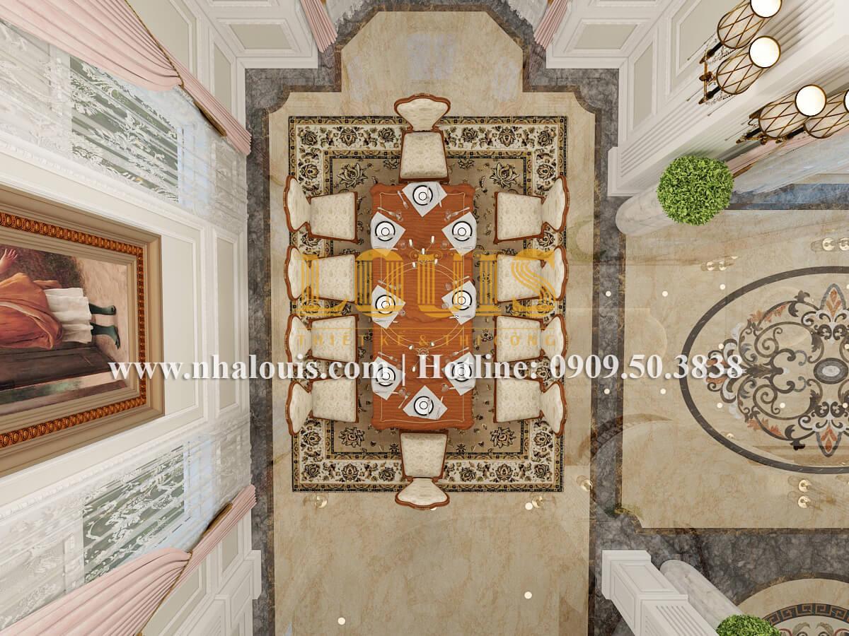 Phòng ăn biệt thự cổ điển kiểu Pháp đẳng cấp tại Đồng Nai