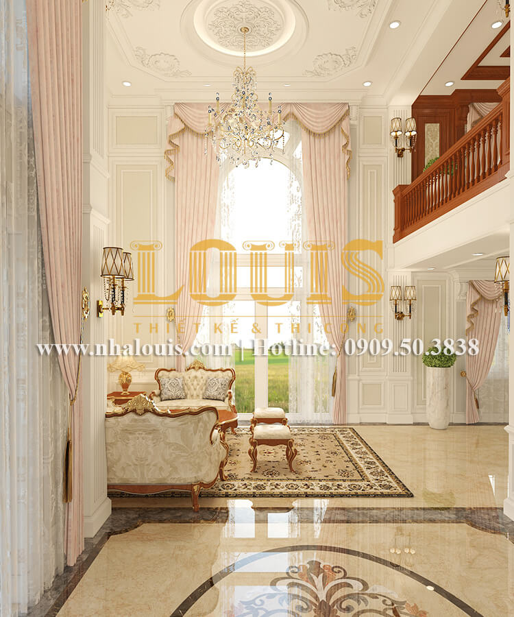 Phòng khách Ngắm biệt thự cổ điển kiểu Pháp đẳng cấp tại Đồng Nai