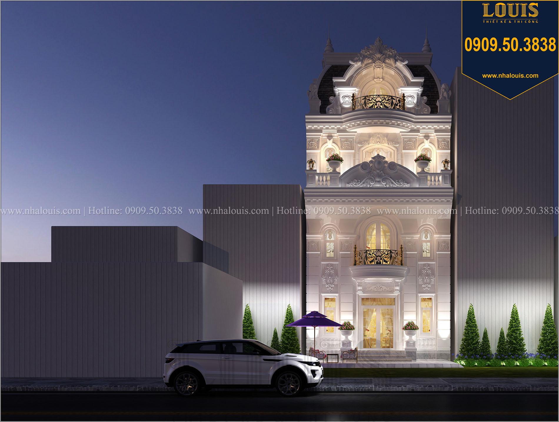 Mặt tiền biệt thự phong cách cổ điển châu Âu - 003 - 1
