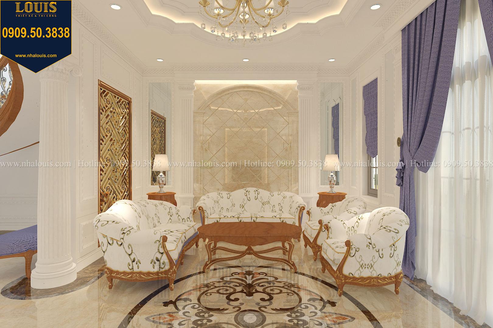Phòng khách biệt thự phong cách cổ điển châu Âu - 005