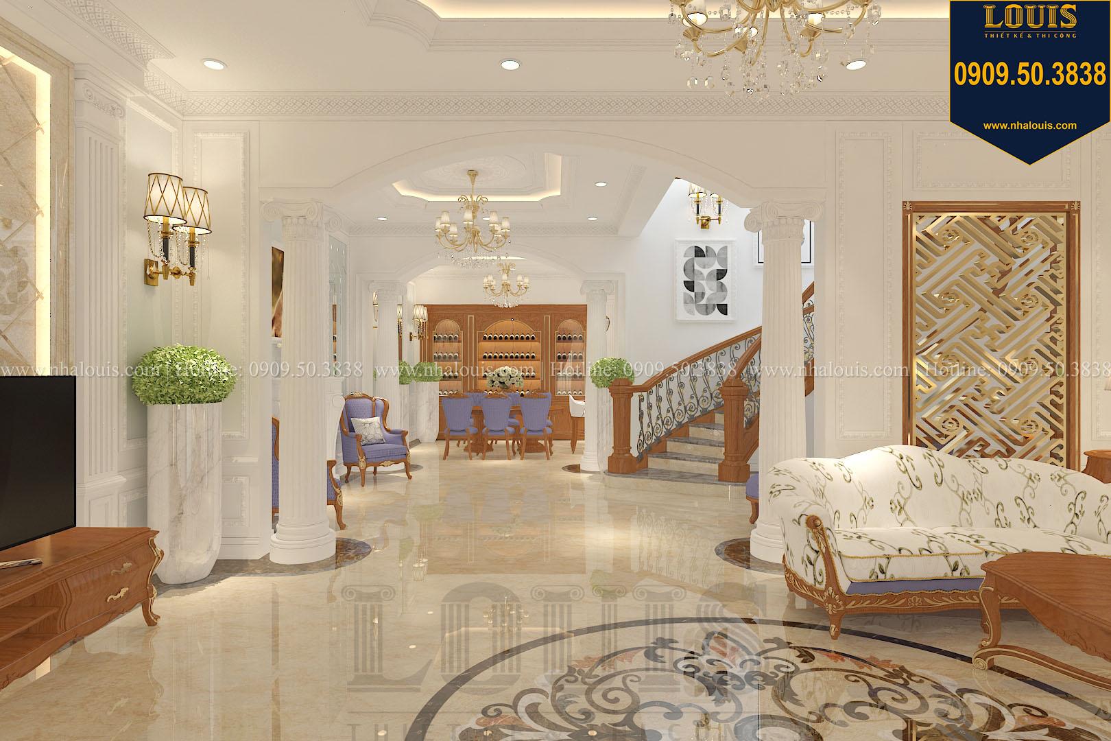 Phòng khách biệt thự phong cách cổ điển châu Âu - 007