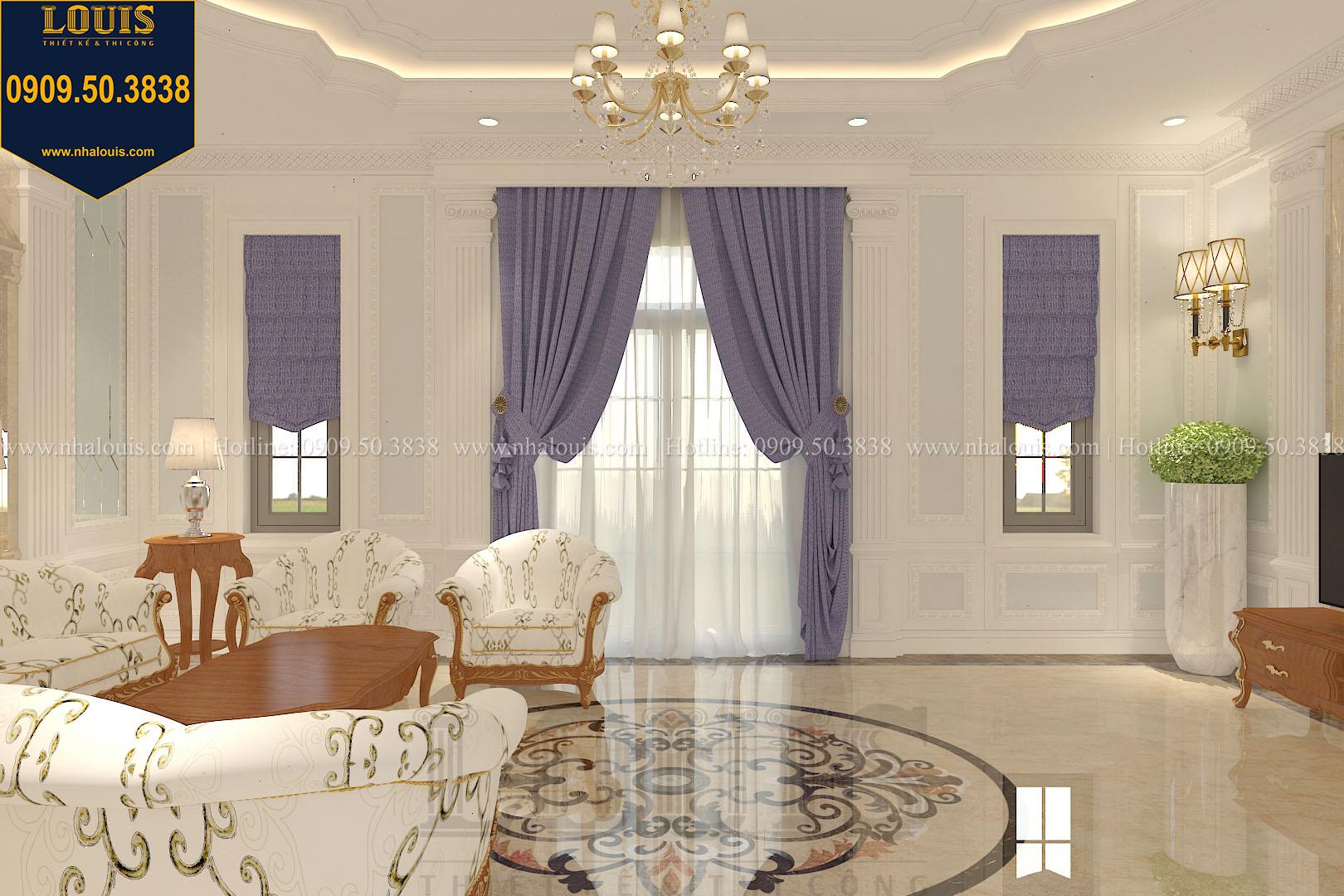 Phòng khách biệt thự phong cách cổ điển châu Âu - 008