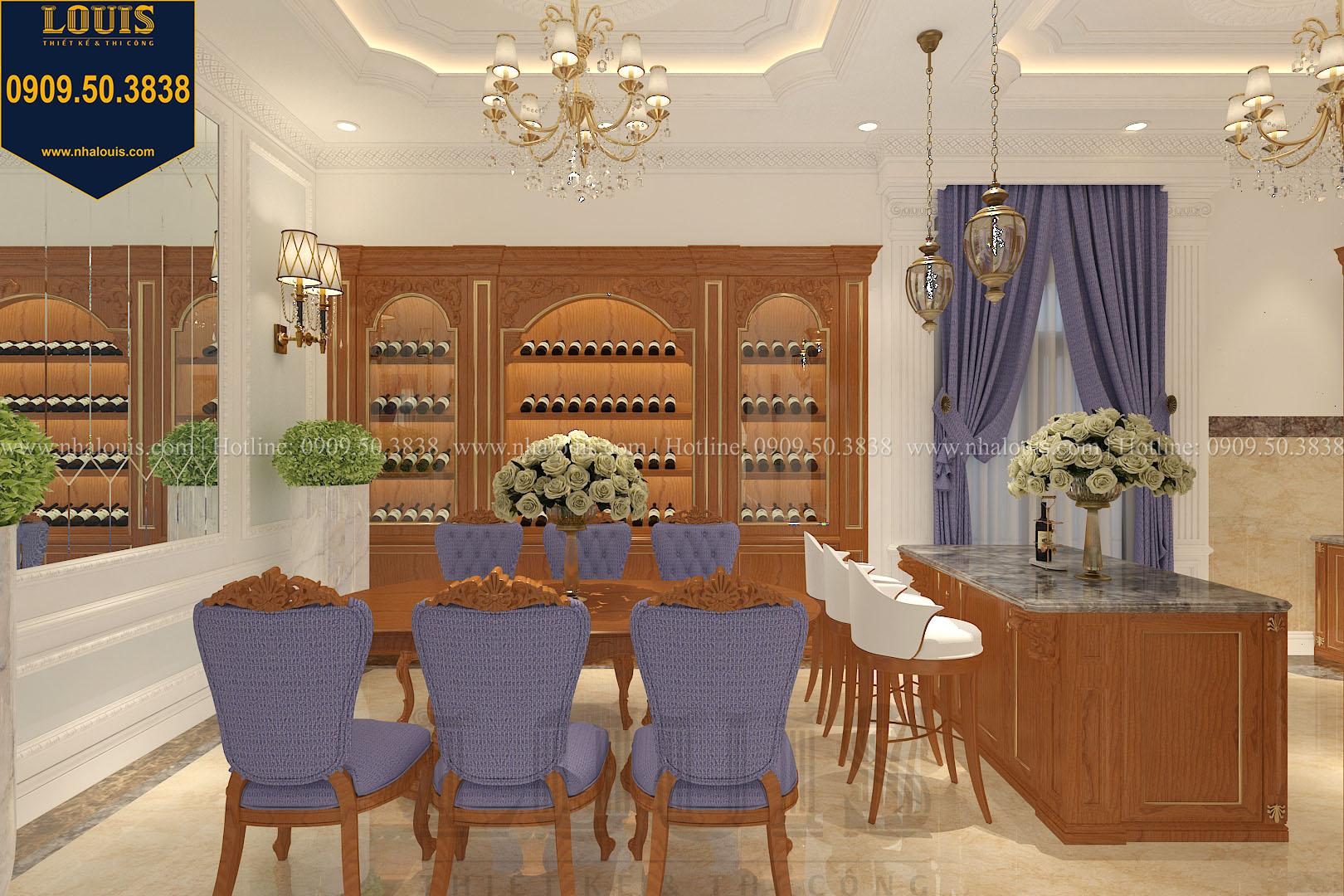 Phòng ăn biệt thự phong cách cổ điển châu Âu - 011