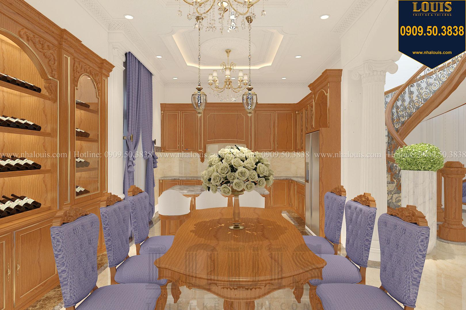 Phòng ăn biệt thự phong cách cổ điển châu Âu - 012