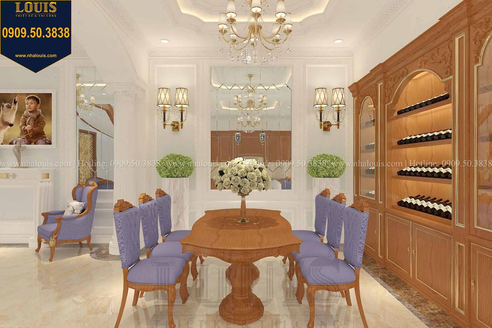 Phòng ăn biệt thự phong cách cổ điển châu Âu - 013