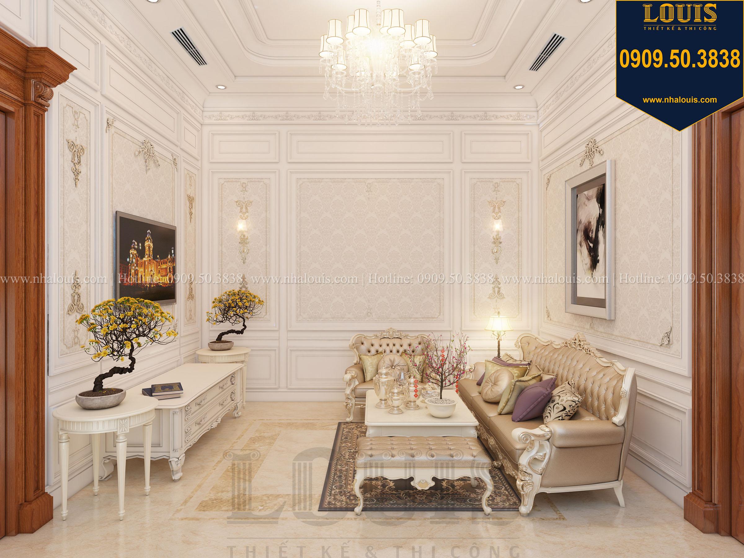 Phòng sinh hoạt chung biệt thự phong cách cổ điển châu Âu - 016