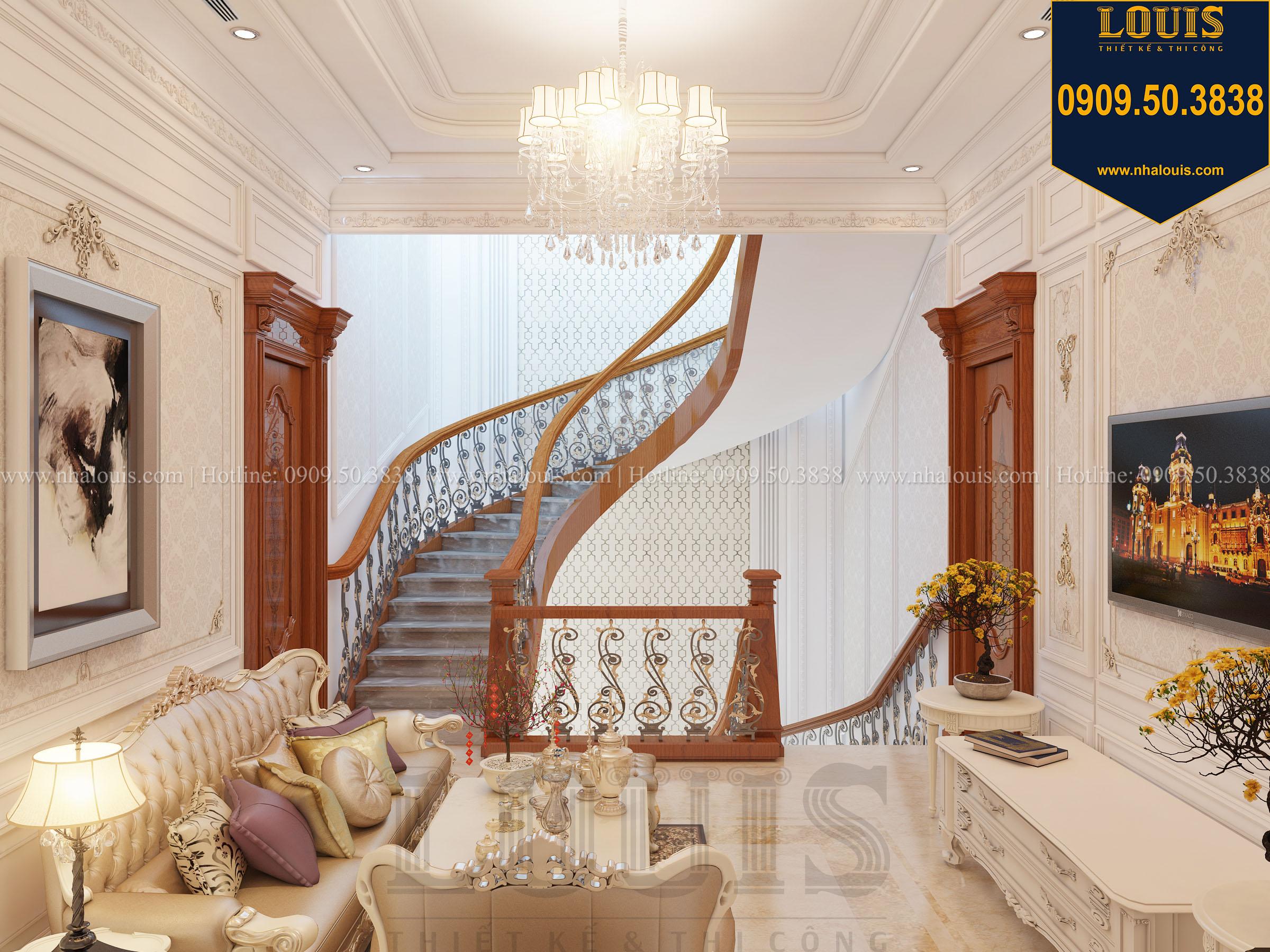 Phòng sinh hoạt chung biệt thự phong cách cổ điển châu Âu - 017