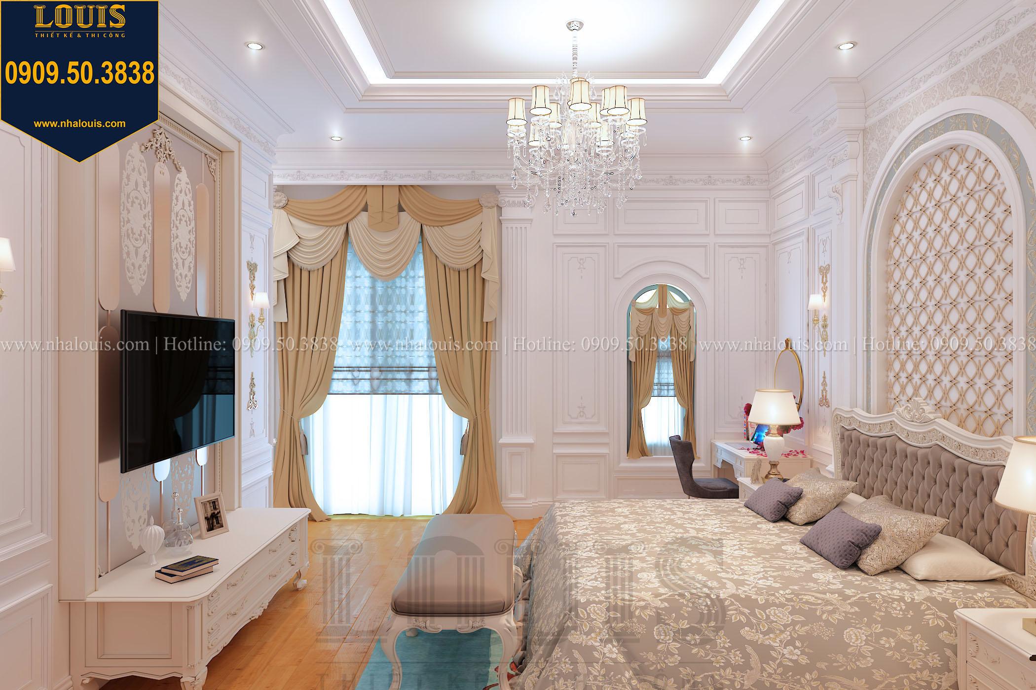 Phòng ngủ master biệt thự phong cách cổ điển châu Âu - 019