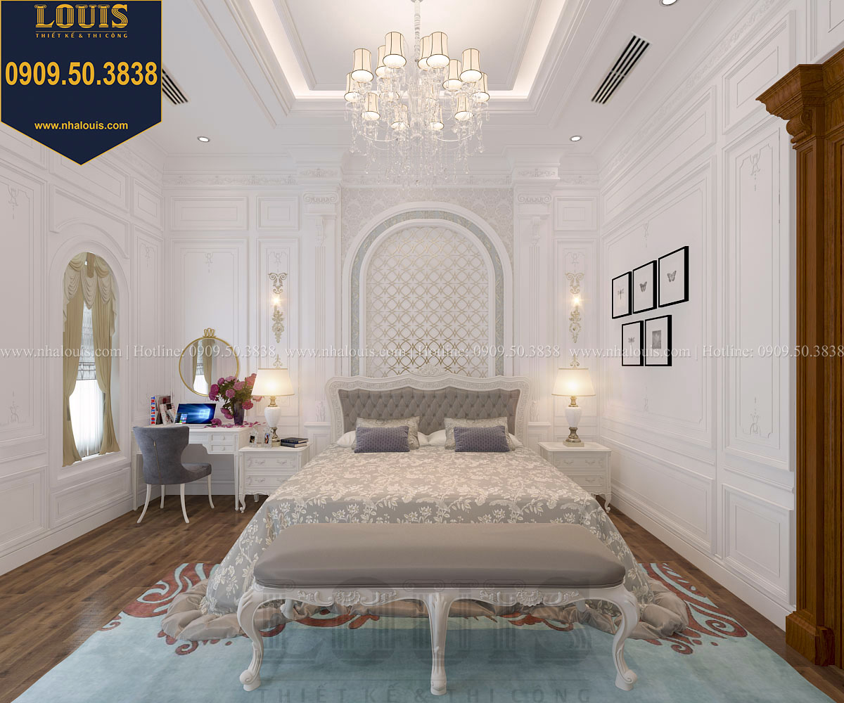 Phòng ngủ master biệt thự phong cách cổ điển châu Âu - 022