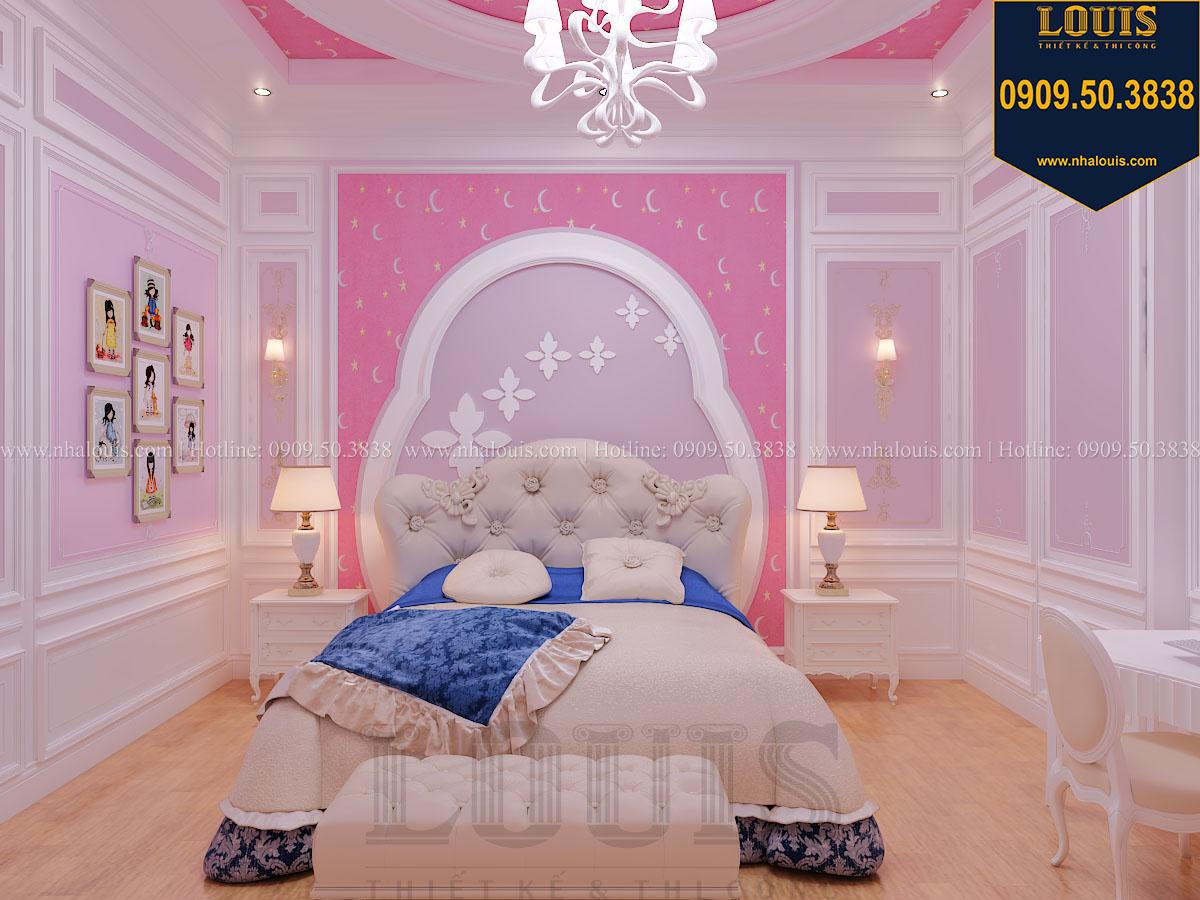 Phòng ngủ con gái biệt thự phong cách cổ điển châu Âu - 025