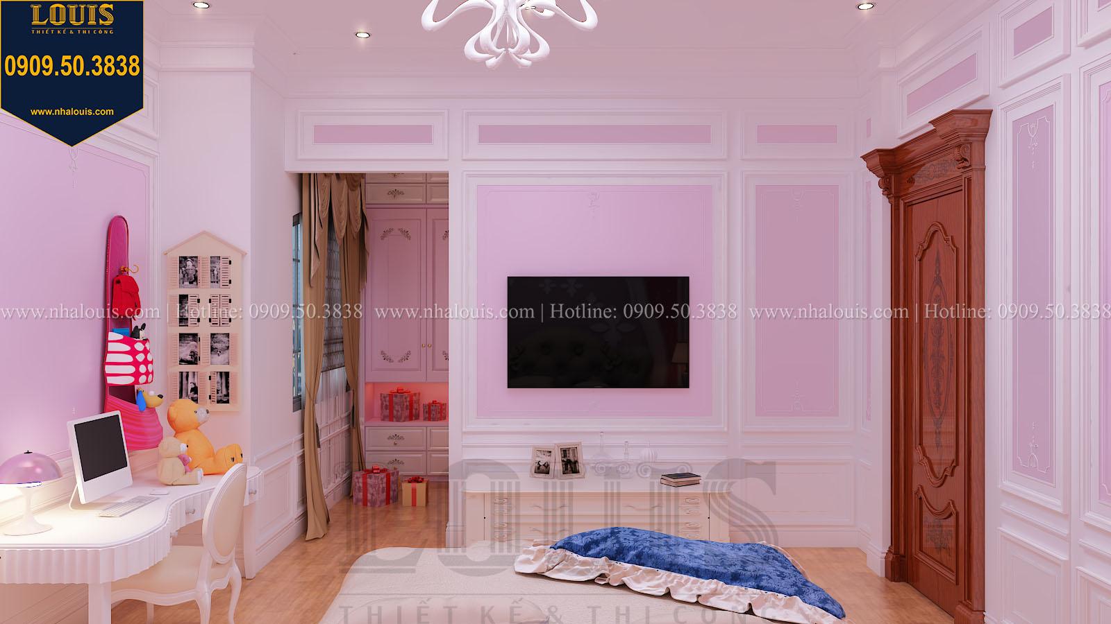Phòng ngủ con gái biệt thự phong cách cổ điển châu Âu - 026